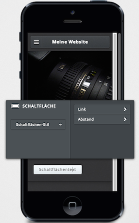 Weebly Mobile Ansicht